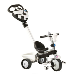 Kinderdreirad Smart Trike Zoo Kuh - schwarz weiß
