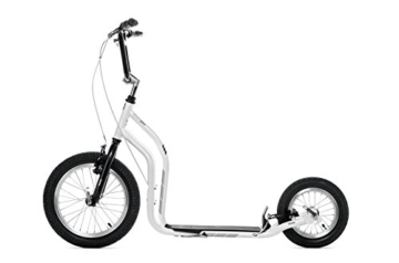 Yedoo Scooter Tretroller CITY – NEW (Weiss-Schwarz) -